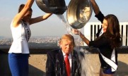 Miss Universo 2013 y Miss USA ayudan a Donald Trump con su Ice Bucket Challenge (Video)