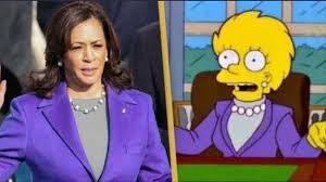"Los Simpson: Kamala Harris le ""copió"" el look a Lisa"