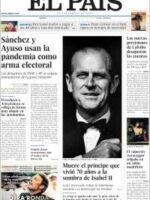 Portadas de los diarios del sábado 10/04/2021