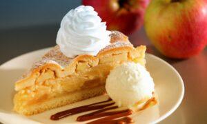 Pie de manzana con helado de vainilla, un sabor irresistible